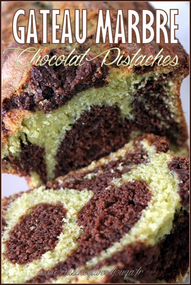Gâteau marbré chocolat pistaches