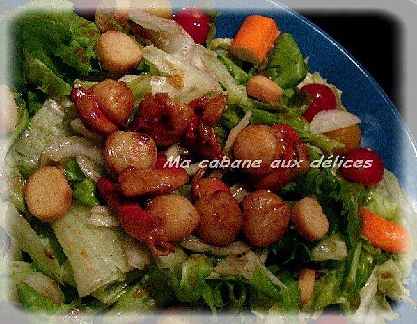 Salade fraîcheur aux saint jacques