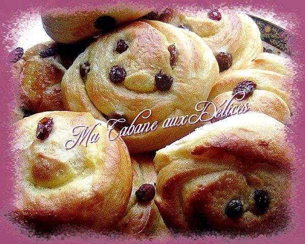 Pains russes ou pains aux raisins