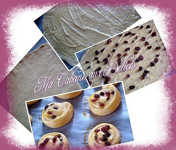 comment préparer les pains aux raisins