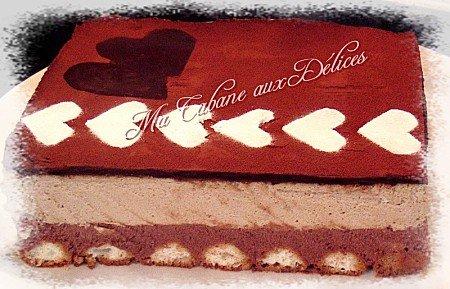 Bavarois chocolat cafe