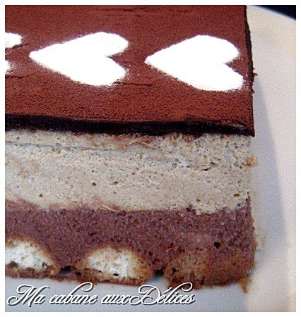 Bavarois chocolat café
