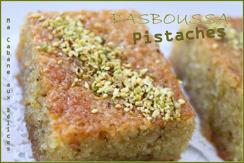 Basboussa pistaches