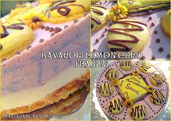Bavarois Lemon curd fraise photo 4