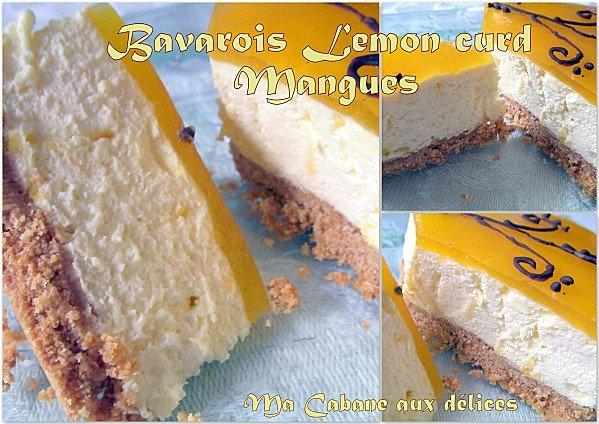 Bavarois lemon curd mangue photo 1