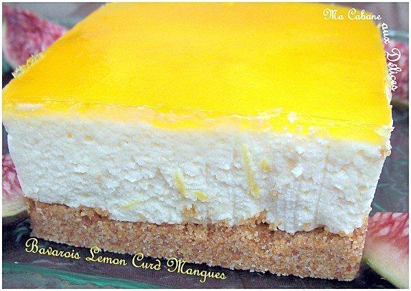 Bavarois lemon curd mangue photo 3