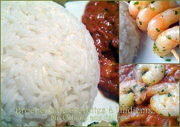 Brochette crevette sauce indienne photo 3