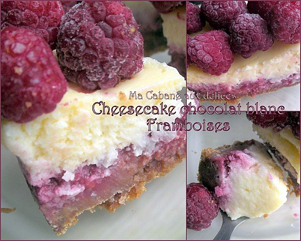 cheese cake chocolat blanc et framboises