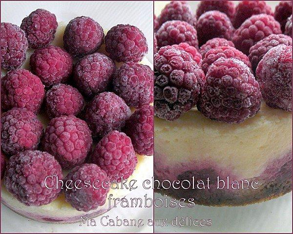 Cheesecake chocolat blanc et framboises