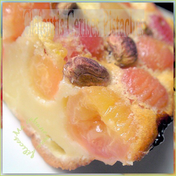 Clafoutis cerises pistaches photo 2