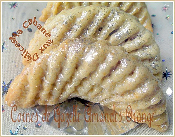 Cornes de gazelle amandes orange