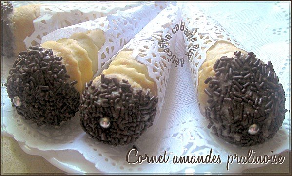 Cornet amandes pralinoises photo 2
