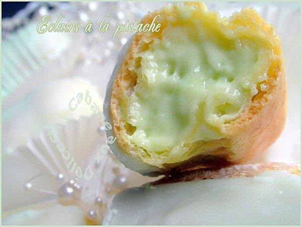 éclairs crème chiboust à la pistache