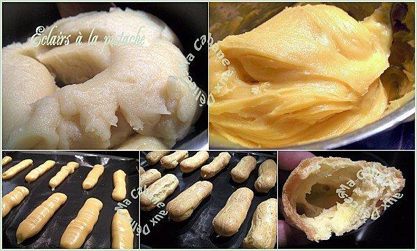 Etapes des éclairs crème chiboust