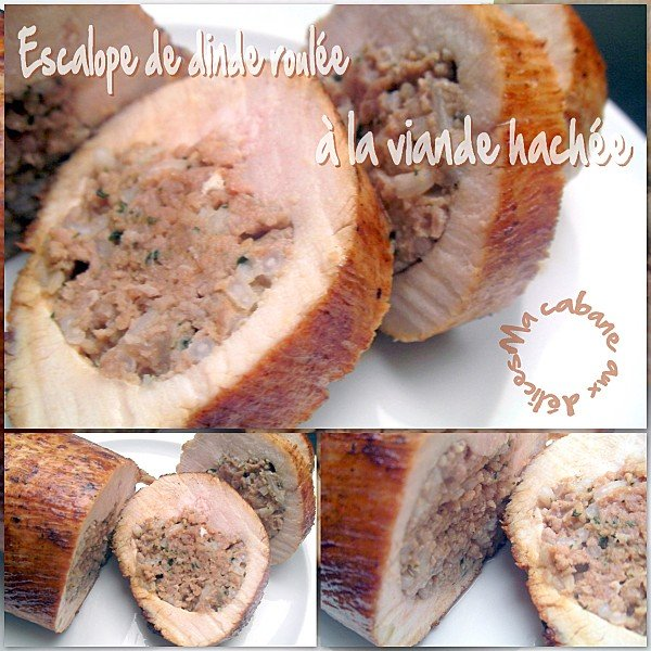 Escalope de dinde roulée à la viande hachée photo 4