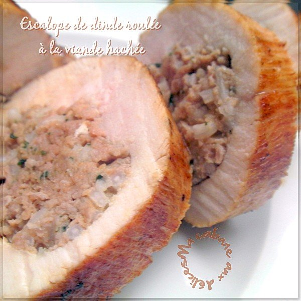 Escalope de dinde roulée à la viande hachée photo 5