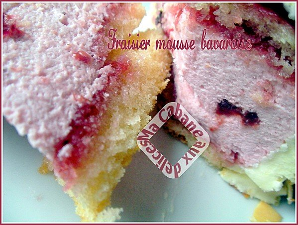 gateau bavarois fraises