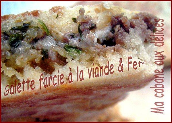 Galette algérienne fourée à la viande et feta