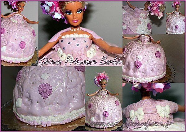 Gateau barbie pate à sucre photo 2