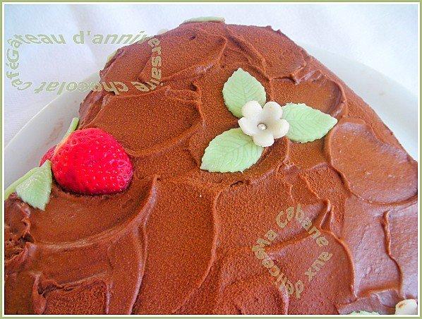 Gâteau génoise crème chocolat café