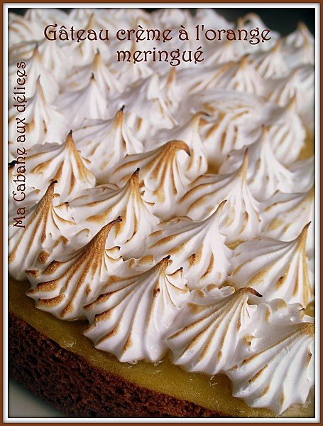 Gateau a l'orange meringue