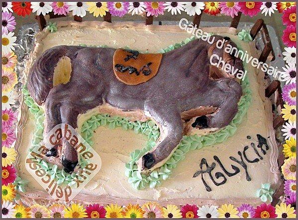 Gateau cheval 3D