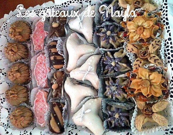 Jolis plateaux de gâteaux algériens faits pour l'Aid