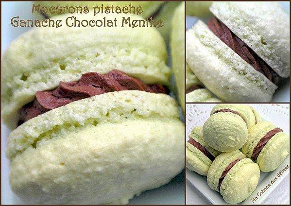 Macarons pistache ganache chocolat menthe photo 3