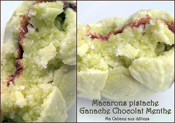Macarons pistache ganache chocolat menthe photo 4