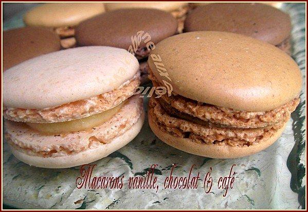 Macaron vanille chocolat café facile