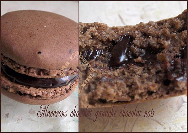 Macarons vanille chocolat café montage 1