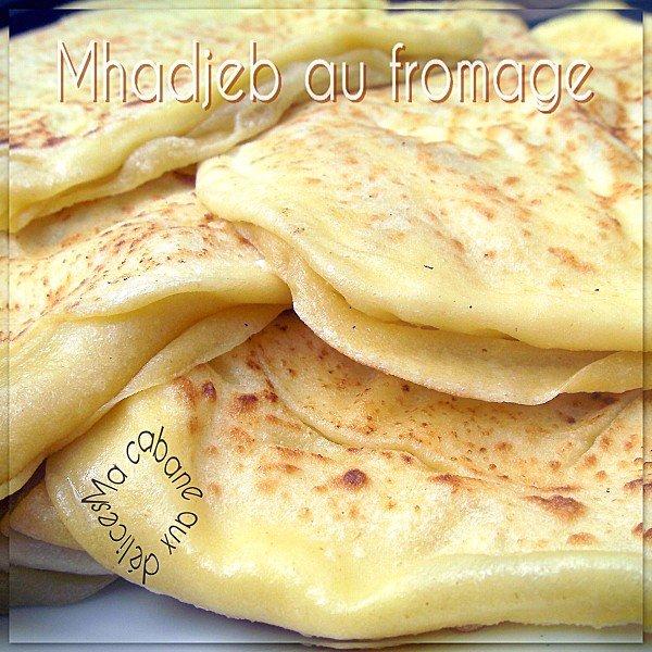 Mhajeb fourré à la crème de fromage