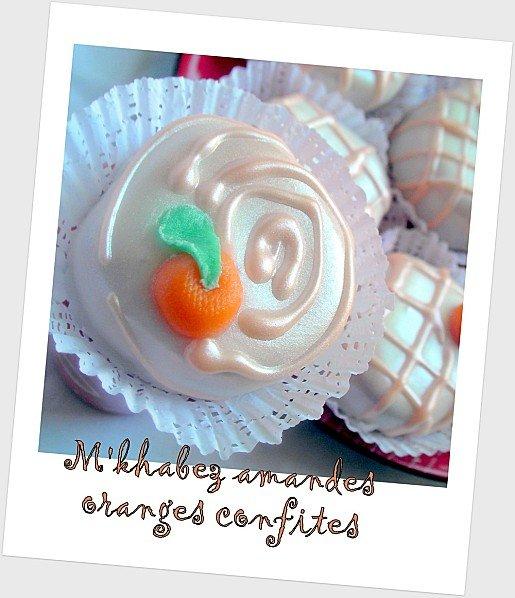 Mkhabez amandes oranges confites photo 3