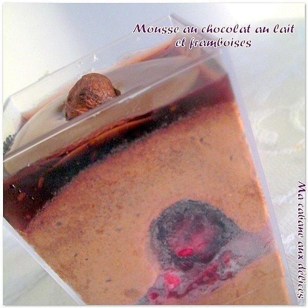 Mousse au chocolat au lait framboises photo 4