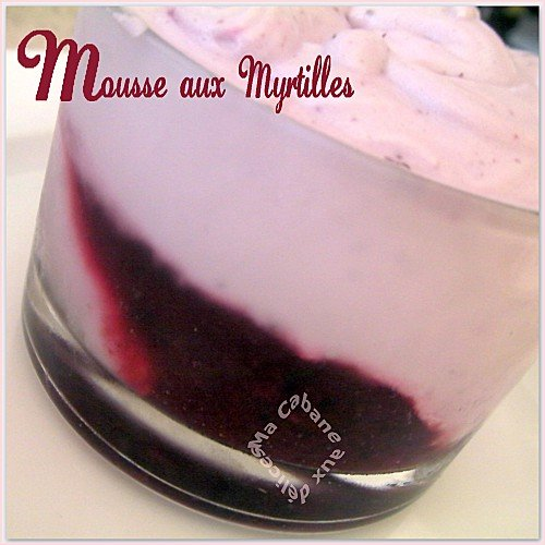 Mousse aux myrtilles photo 2