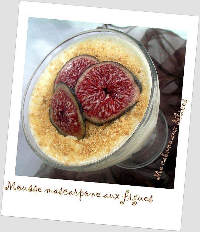 Mousse mascarpone aux figues photo 1