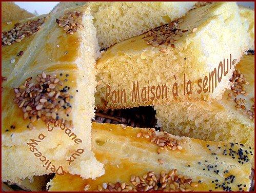 pain maison 100% semoule