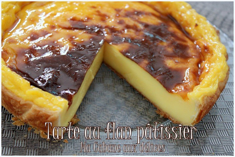 tarte au flan patissier recettes faciles recettes rapides de djouza. Black Bedroom Furniture Sets. Home Design Ideas