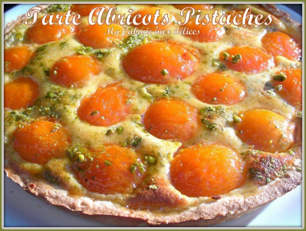 tarte aux abricots frais et pistache