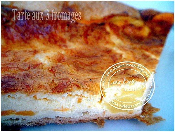 Tarte ou quiche aux trois fromages