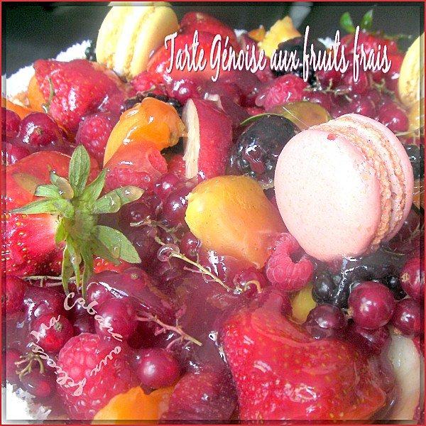 Tarte génoise aux fruits frais photo 1