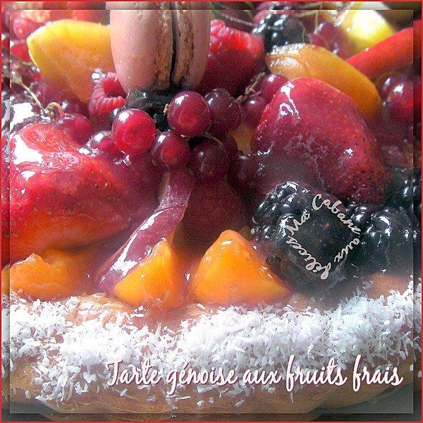 Tarte génoise aux fruits frais photo 3