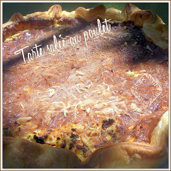 Tarte salée au poulet photo 2