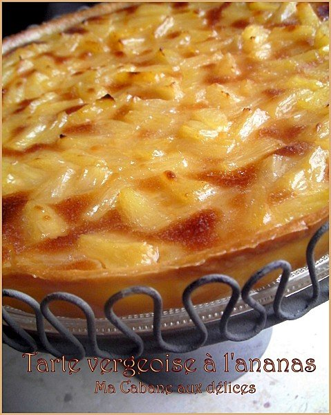 Tarte vergeoise ananas photo 3