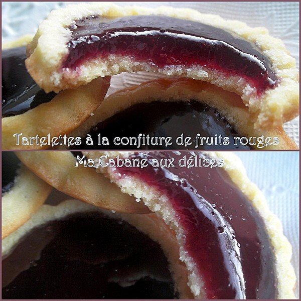 Tartelette confiture fruits rouges