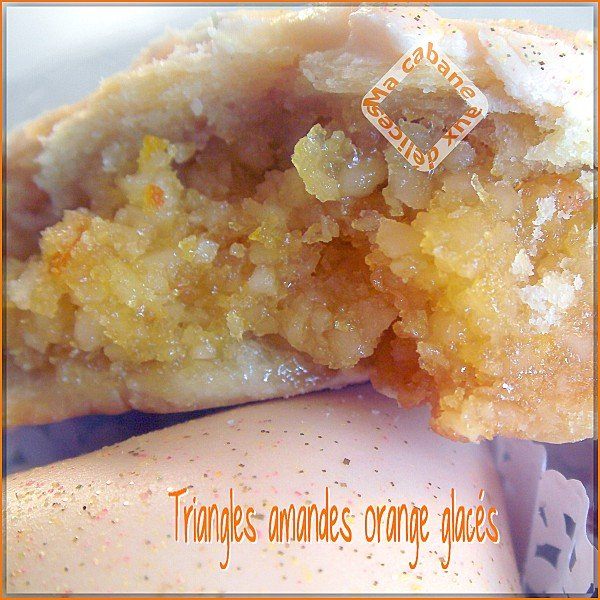 Triangles amandes oranges glacés photo 4