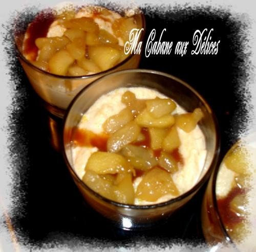 Verrine pomme poire caramélisée