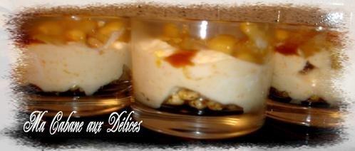 Verrine de pommes poires caramélisées