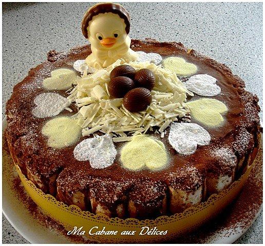 gateau bavarois entremet poire chocolat