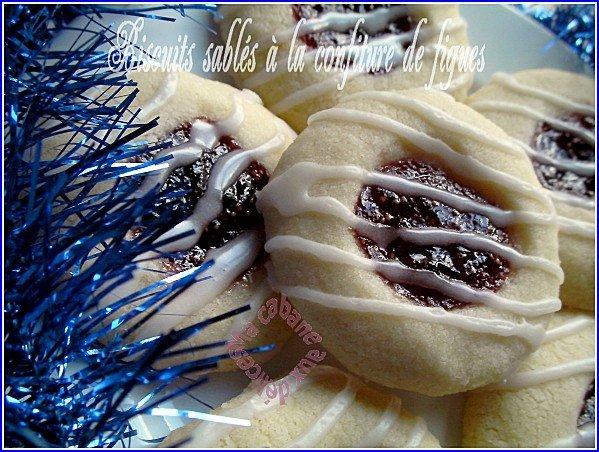 Biscuits sablés sans oeuf à la confiture de figues